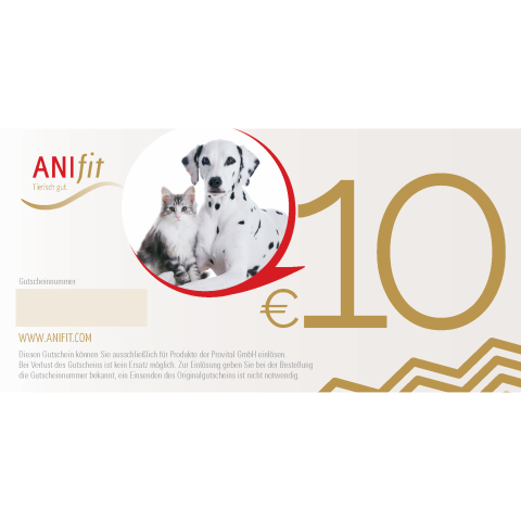 Anifit 10 EUR Gutschein ONLINE (1 Stück)